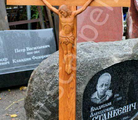 Купить дубовый деревянный крест на могилу