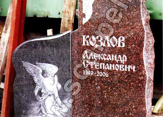 Гранитные памятники на могилу в виде ангела