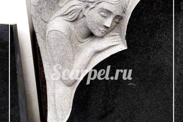 памятники на могилу из гранита с ангелами